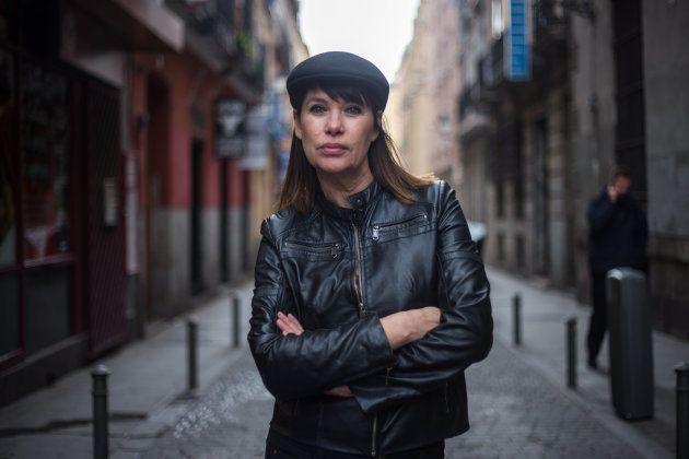 Mabel Lozano, en el barrio madrileño de Tirso de