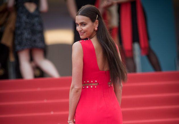 La modelo Irina Shayk en la presentación de 'Sorry Angel' en el Festival de Cannes