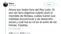 El tuit irónico sobre 'El Rey León' que resume el funcionamiento de