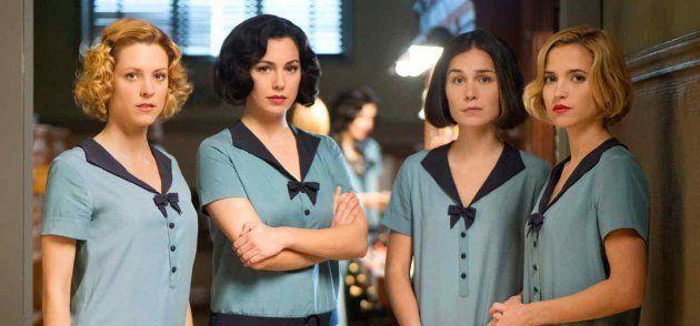 Maggie Civantos, Blanca Suárez, Nadia de Santiago y Ana Fernández, en la primera temporada de 'Las chicas...