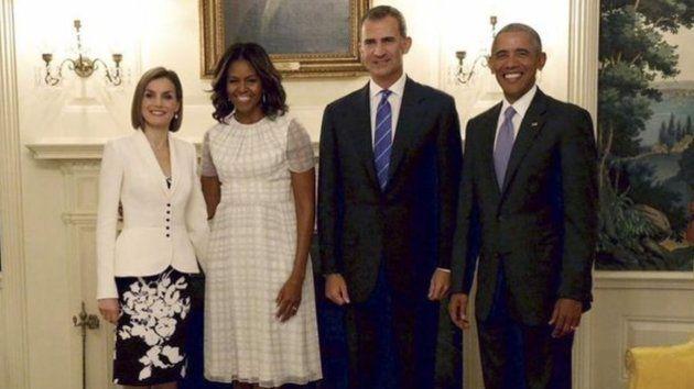 Imagen de archivo de la visita de los reyes a la Casa Blanca en septiembre de