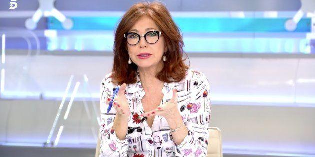 La periodista Ana Rosa Quintana, en el programa del 26 de noviembre de
