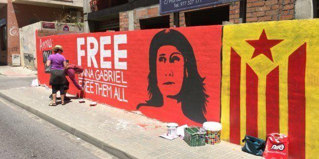 Imagen del mural del Casal Despertaferro!, en una imagen distribuida en su cuenta de