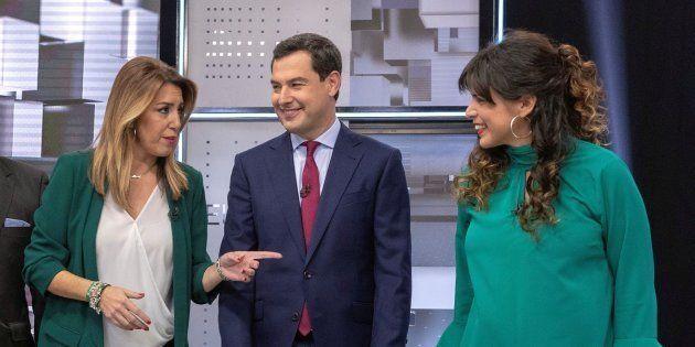 Susana Díaz, Juanma Moreno y Teresa
