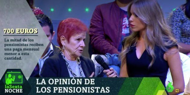 El indignado discurso sobre las pensiones de Paca, una pensionista de 70 años, en 'LaSexta