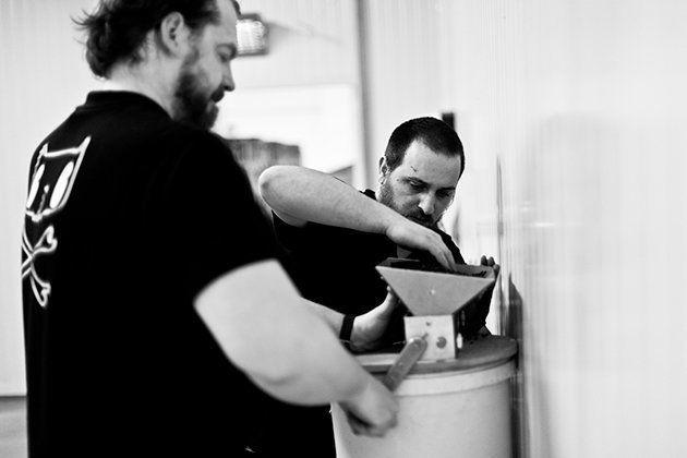 Sami Claret (izq) y Javier Aldea (der), cerveceros de Nómada