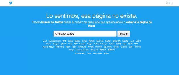 Desaparece la cuenta de Twitter de Julian