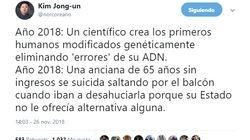 El tuit de Norcoreano sobre las dos noticias del día que da mucho que