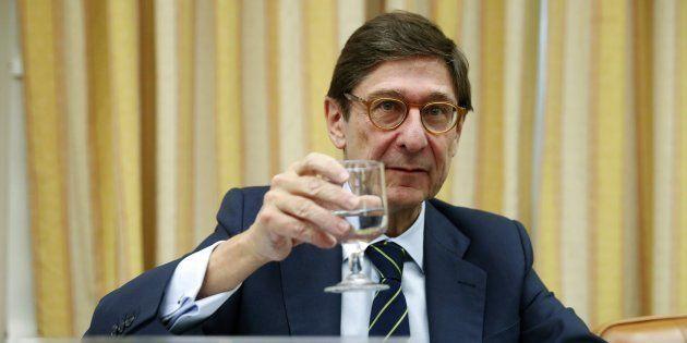 El presidente de Bankia, José Ignacio Goirigolzarri, al comienzo de su comparecencia en el Congreso de...