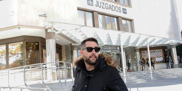 El humorista Dani Mateo, en los juzgados de Plaza de Castilla el 26 de noviembre de