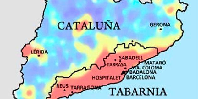 Mapa de Tabarnia, según el colectivo