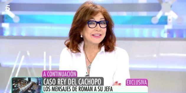 La presentadora Ana Rosa Quintana, en el programa del 27 de noviembre de