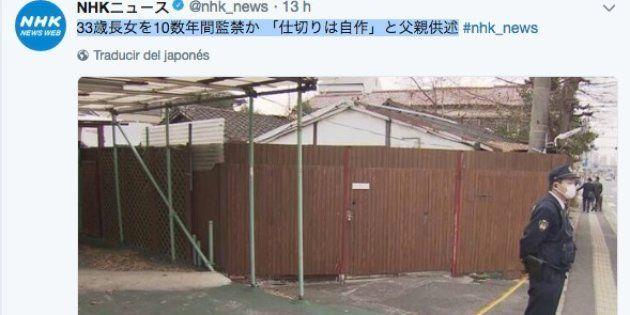 Tuit de la cadena japonesa NHK sobre el