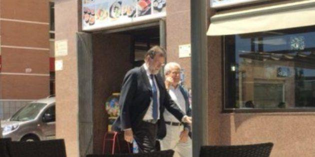 Mariano Rajoy con Francisco Riquelme, en Santa