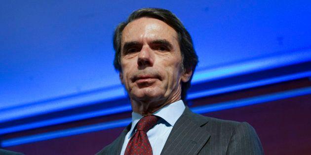 El expresidente del Gobierno José María Aznar, el pasado 5 de junio en la presentación del libro 'No...