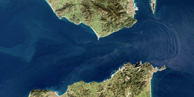Imagen por satélite del Estrecho de Gibraltar el 17 de enero de