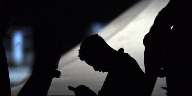 Imagen de archivo de un refugiado en