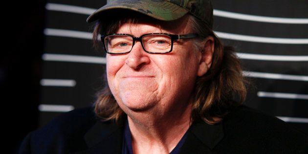 El director Michael Moore, en 2016 en un estreno en Nueva York (EE