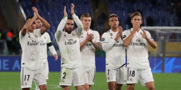 El Real Madrid toma Roma y sella el pase a octavos como