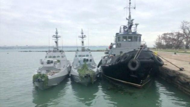 Los buques ucranianos detenidos por