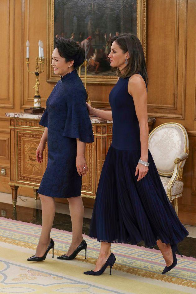 La reina Letizia y Peng