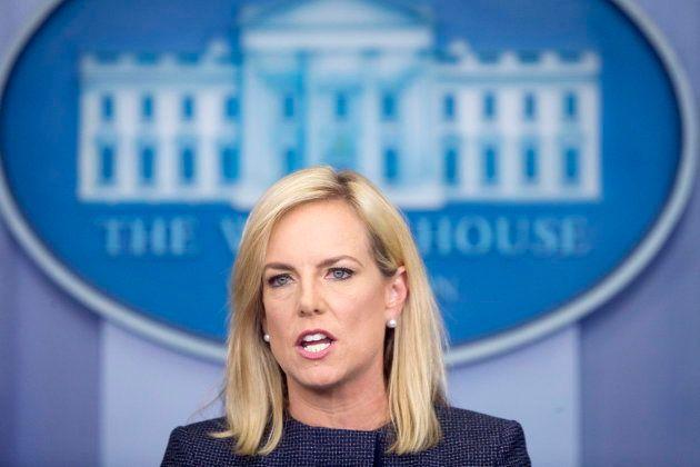 La secretaria de Seguridad Nacional de Estados Unidos, Kirstjen