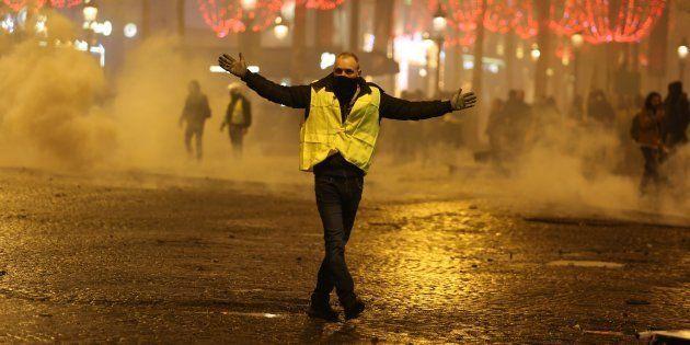 Un manifestante de los chalecos amarillos, el pasado 24 de noviembre en
