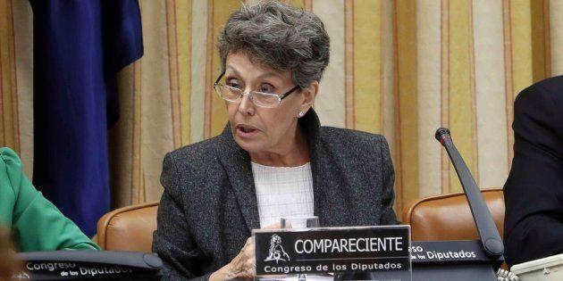 Rosa Maria Mateo, durante su comparecencia ante la Comisión Mixta de Control Parlamentario el 28 de noviembre...