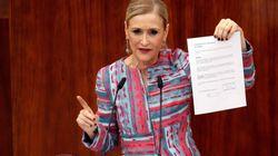 La jueza procesa a Cifuentes por falsedad documental en el caso del