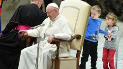 Un niño argentino, protagonista por lo que hizo en la audiencia general del papa