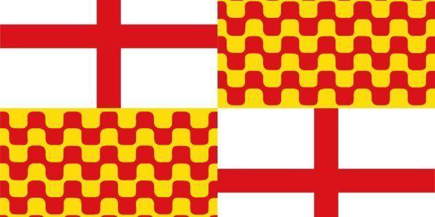 Bandera de Tabarnia propuesta en las