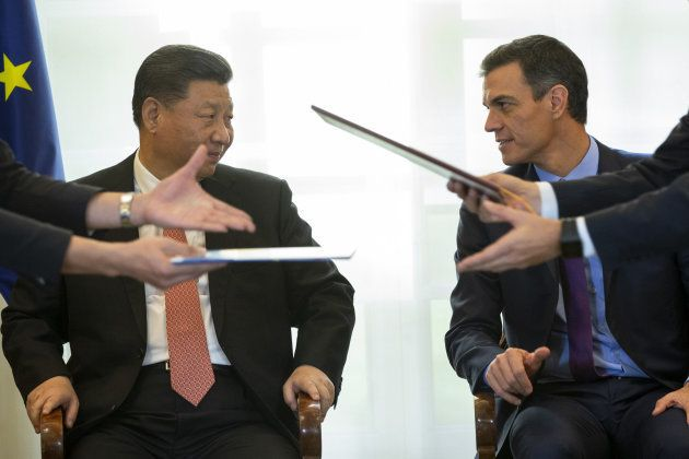 Xi Jinping y Pedro Sánchez, en La