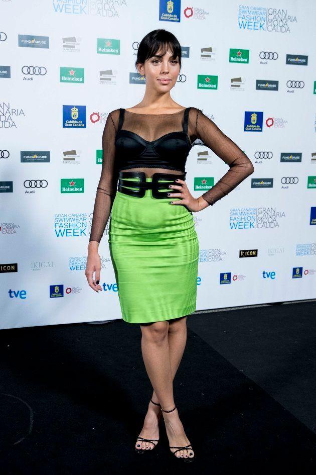 Georgina Rodriguez, en Gran Canaria Moda Cálida, el 16 de junio de