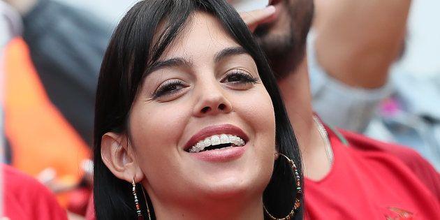 Georgina Rodriguez, en el partido Portugal-Marruecos del Mundial de Rusia el 20 de junio de 2018 en