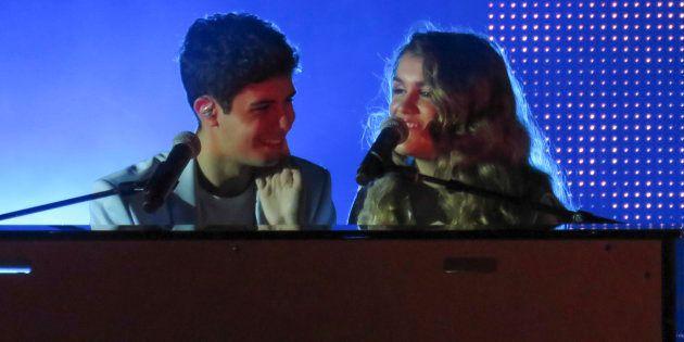 Alfred y Amaia cantan 'City of Stars' en el concierto de 'OT' en Barcelona el 3 de marzo de