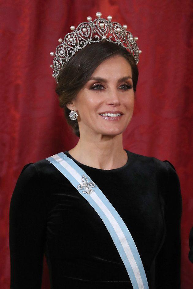 Doña Letizia, con la tiara