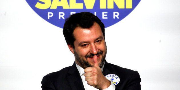 Matteo Salvini, durante un mitin en Roma, el pasado