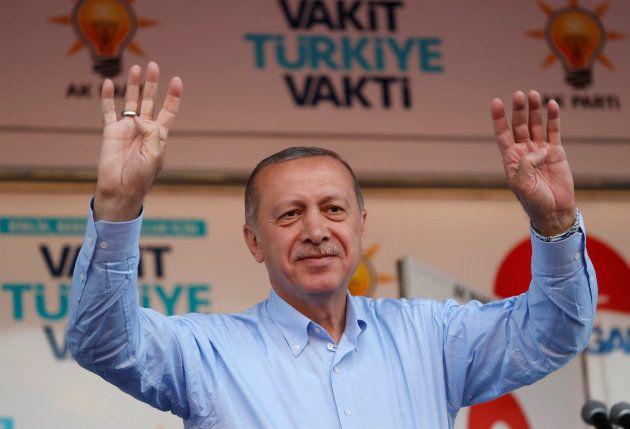 El actual presidente turco, Recep Tayyip Erdogan, durante un acto de