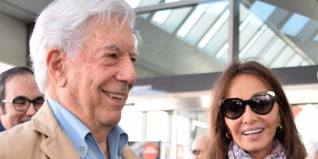 Mario Vargas Llosa e Isabel Preysler, el 2 de abril de 2018 en