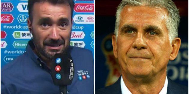 El rifirrafe entre Juanma Castaño y Carlos Queiroz por el VAR en pleno