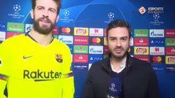 El extraño momento de Piqué con un periodista brasileño por el