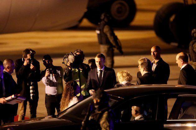El matrimonio Macron llega a Buenos Aires para asisitir a la cumbre del