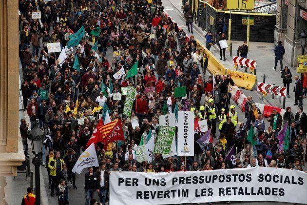 Manifestación de empleados públicos en