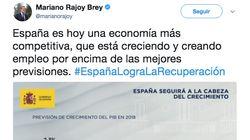Mariano Rajoy indigna en redes con este detalle del gráfico con el que ha sacado pecho por su gestión