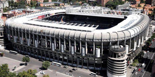 Vista general del Estadio Santiago Bernabéu.