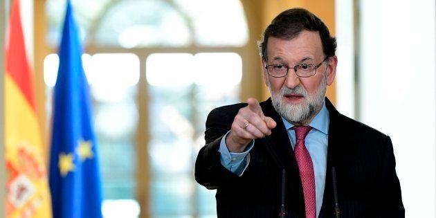 Mariano Rajoy en la presentación de la
