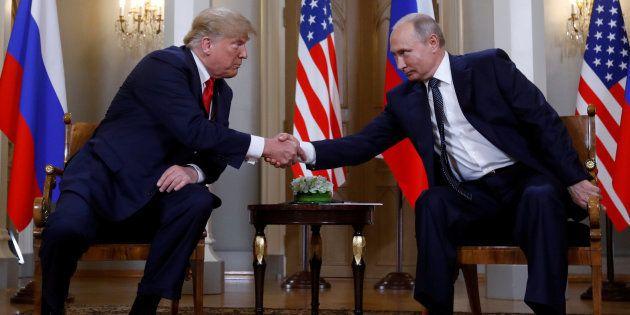 Donald Trump y Vladimir Putin, reunidos en Finlandia el pasado