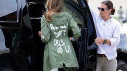 La loquísima chaqueta de Melania Trump que prueba que le da todo