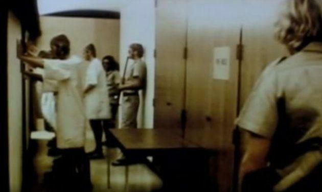 Una imagen de las grabaciones del experimento de