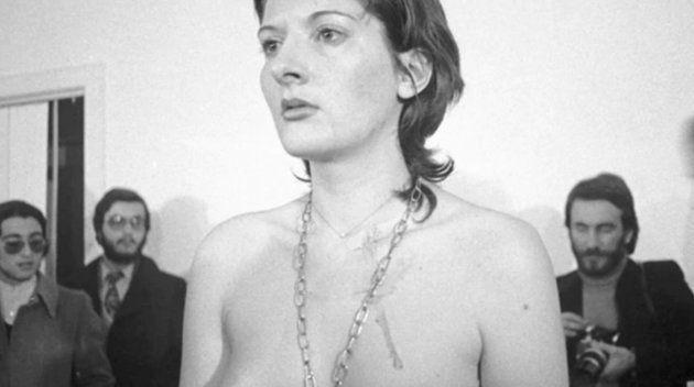 Marina Abramovic durante la